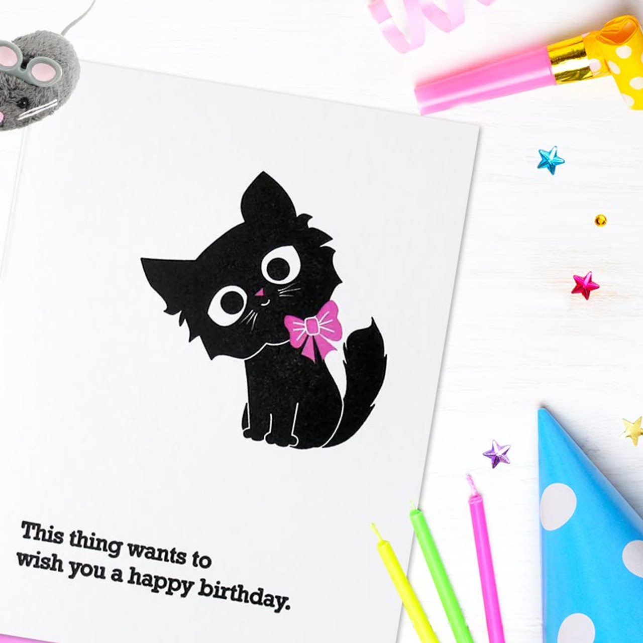 Happy Birthday Card from the cat!