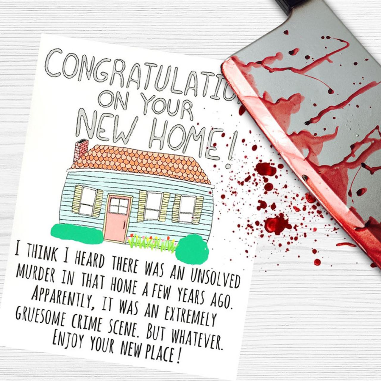 Crime Scene New Home Greeting Card
