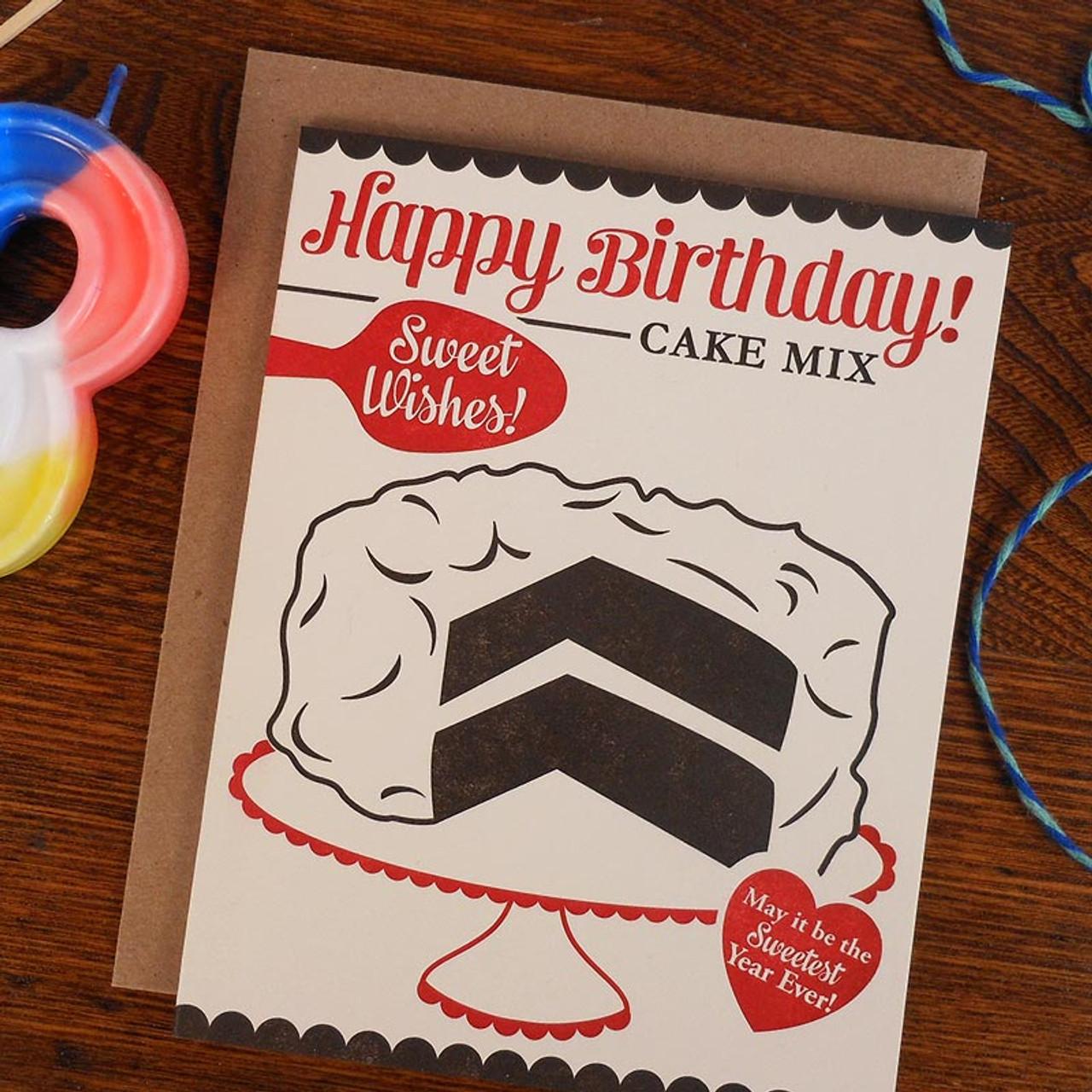 Say Happy Birthday with a Retro Cake Card