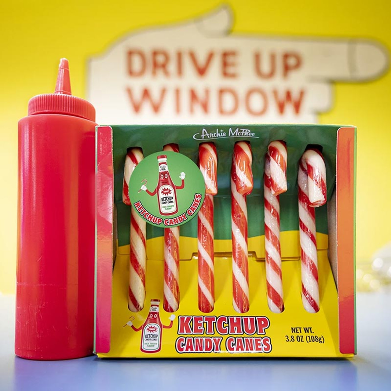 Ketchup Candy Canes - The weirdest candy!