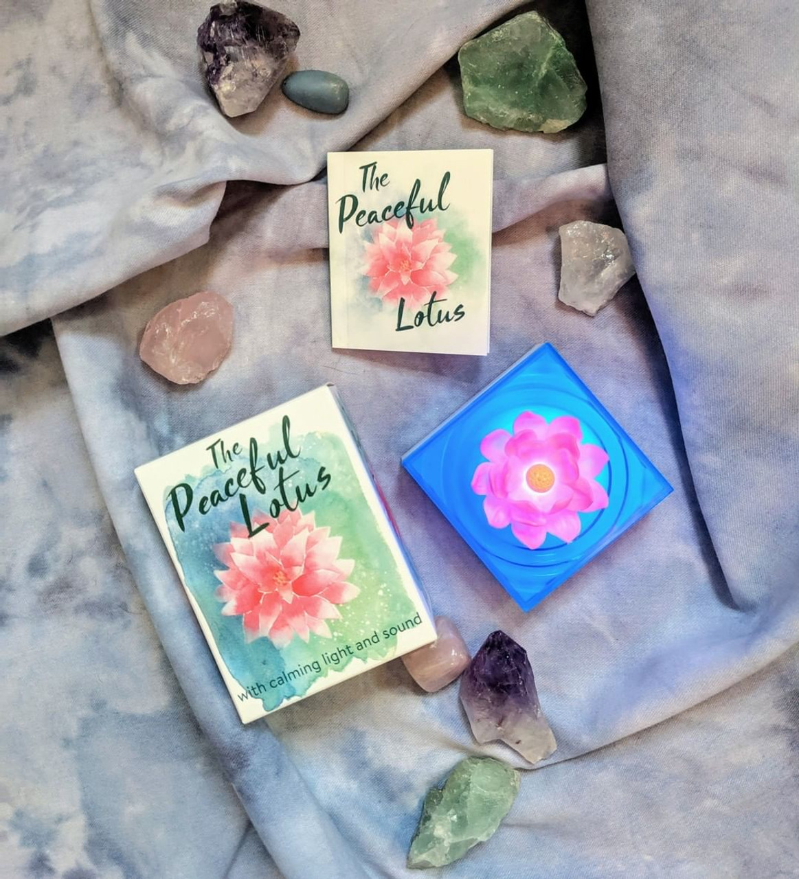 Mini Peaceful Lotus Calming Light + Sound