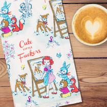 Cover That In Chocolate Retro Fun Dish Towel Blue Q Kitchen