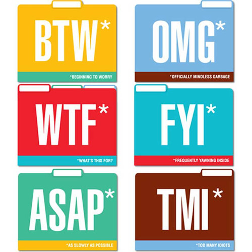Honest Acronyms File Folders
