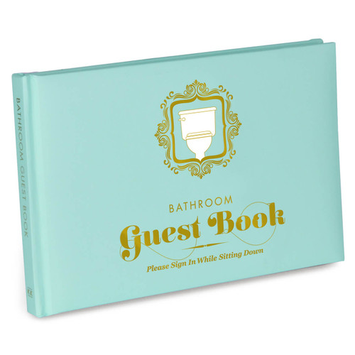 BATHROOM GUEST BOOK - KNOCK KNOCK