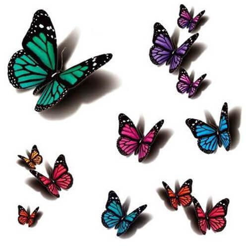 3D Butterfly Tattoos