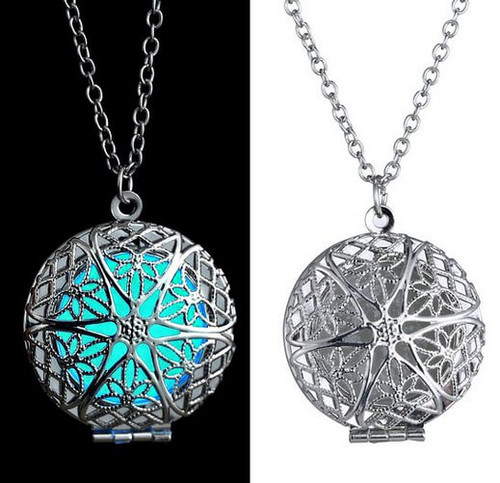 MAGICAL MANDALA GLOWING LOCKET NECKLACE