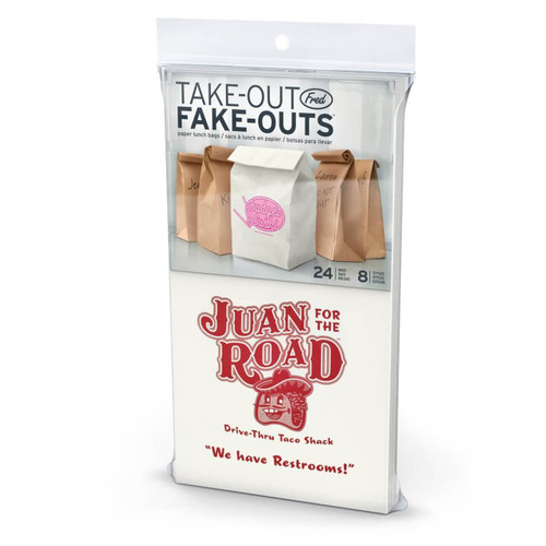 24 Fake-Out Take-Out Paper Lunch Bags