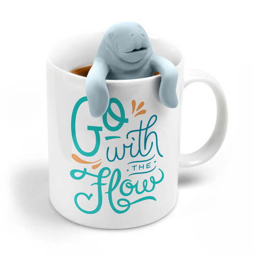 GO WITH THE FLOW WITH THIS MANATEE MUG AND INFUSER