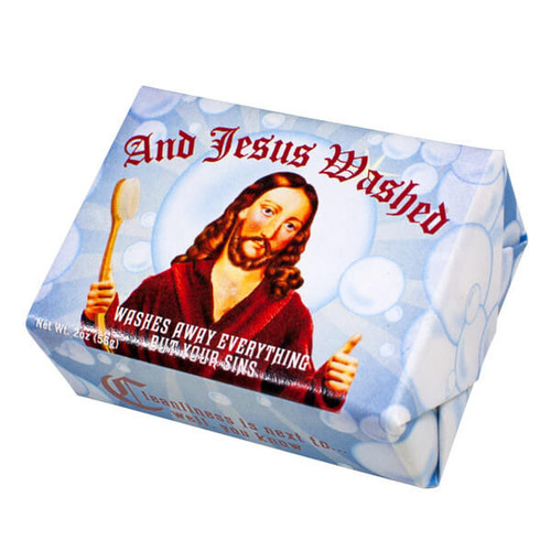AND JESUS WASHED SOAP