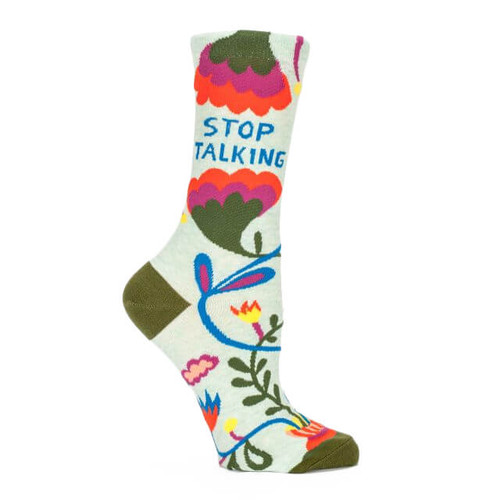 STOP TALKING WOMEN'S CREW SOCK