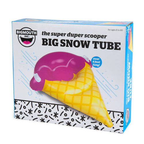SUPER DUPER SCOOPER GIANT ICE CREAM CONE SNOW TUBE SLED