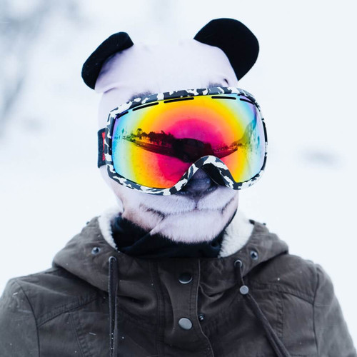 GIANT SNOW LOVING PANDA WINTER SNOW MASK