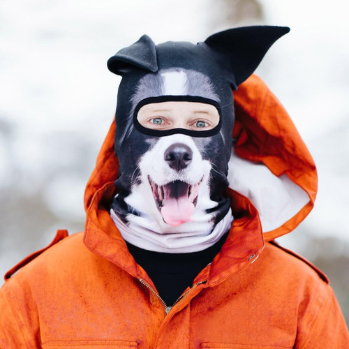 BEARDO TOTALLY FETCHING COLLIE DOG WINTER SKI MASK