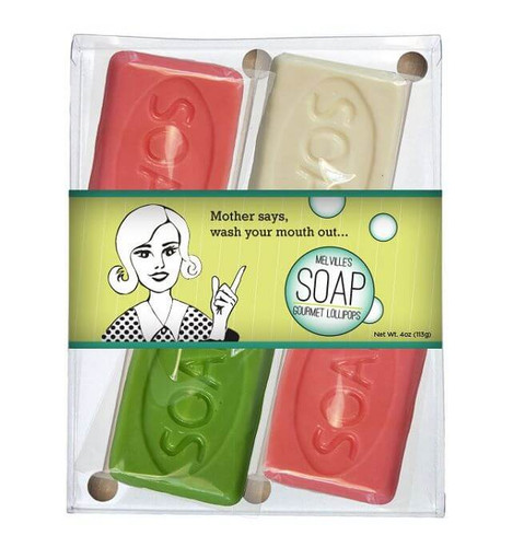 WASH YOUR DIRTY MOUTH OUT SOAP LOLLIPOP GIFT SET