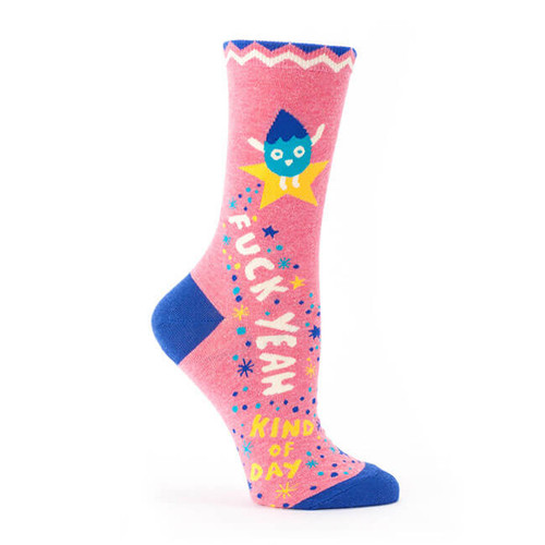 FUCK YEAH KIND OF DAY WOMEN'S CREW SOCKS