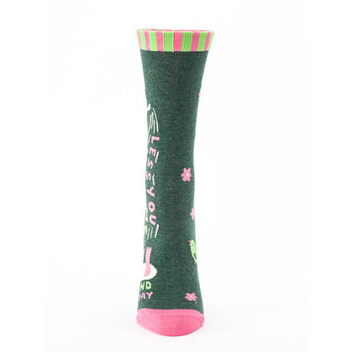 LESS YOU, MORE ME WOMEN'S CREW SOCKS