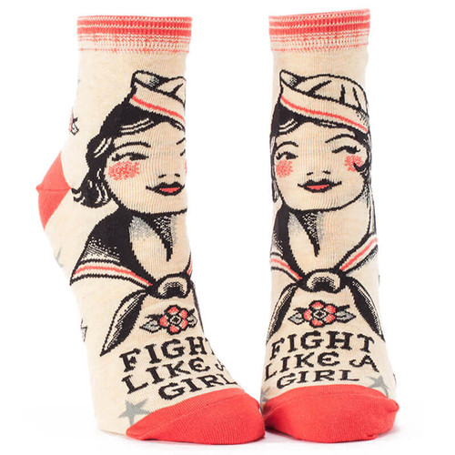 FIGHT LIKE A GIRL SOCKS