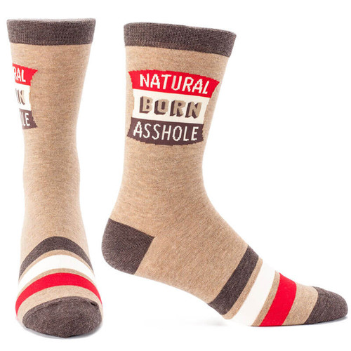 3a22f995fadcd Natural Born Assh*Le Men'S Socks in Unique Socks Gifts by Blue Q