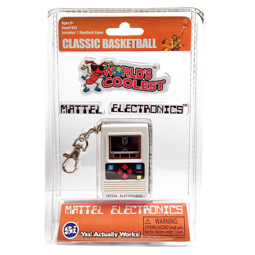 Mattel Electronics Basketball Handheld Game Keychain