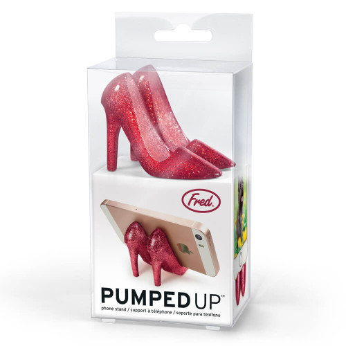 Pumped Up Ruby Red Glitter Phone Stand