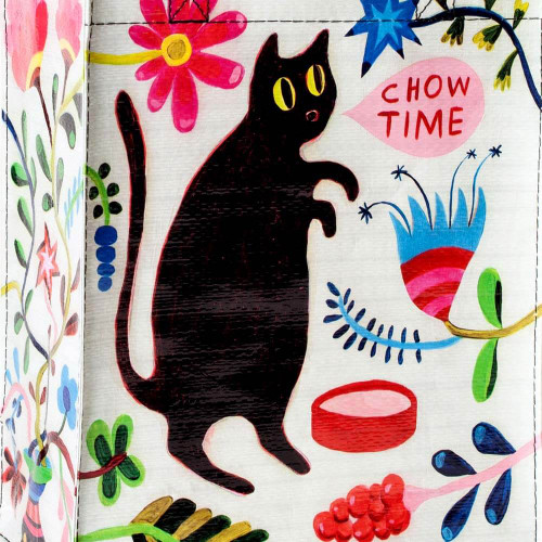 Chow Time Black Cat Handy Tote