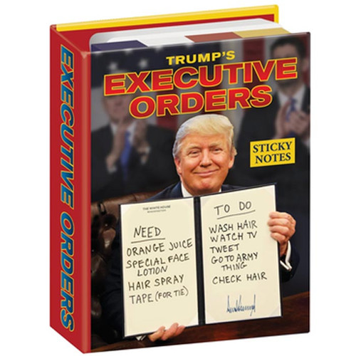 Trump's Executive Orders Sticky Notes Booklet
