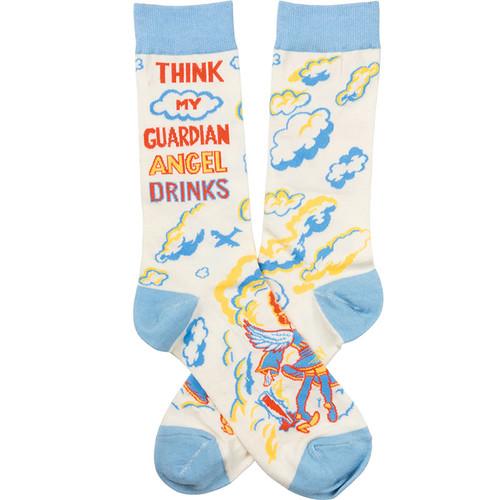I Think My Guardian Angel Drinks Socks