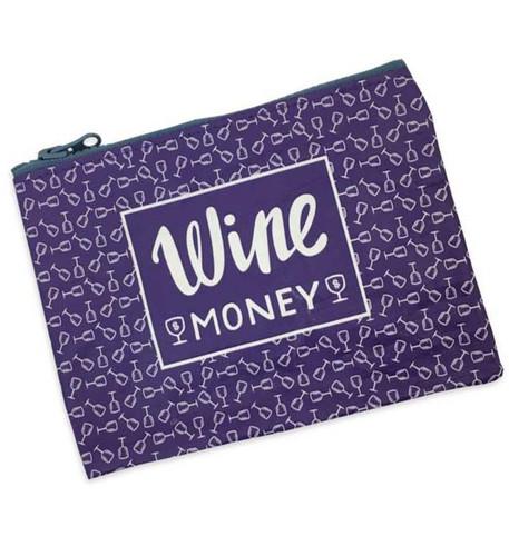 Wine Money - In Wine We Trust - Zipper Wallet