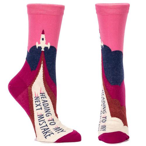 BlueQ Socks Heading To My Next Mistake Socks