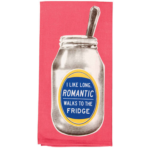 I Like Long Romantic Walks To The Fridge Dish Towel