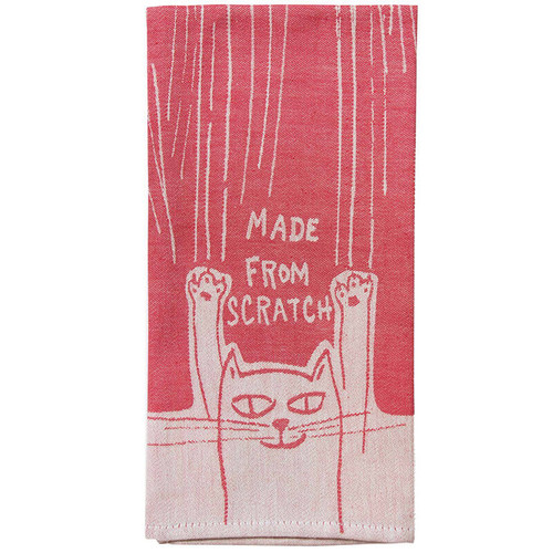 Made From Scratch Cat Blue Q Dish Towel