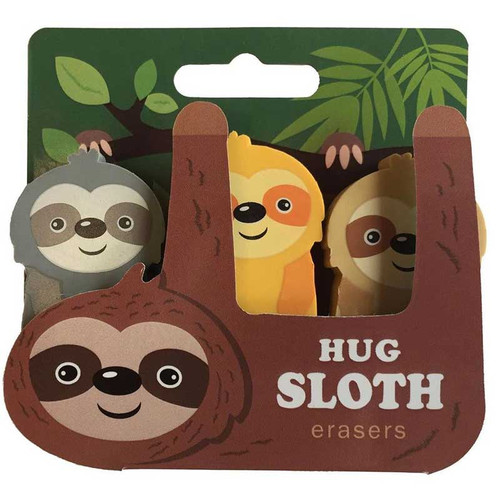 Sloth Eraser Set