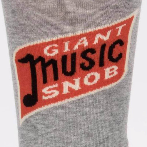 Blue Q Giant Music Snob Men's Socks