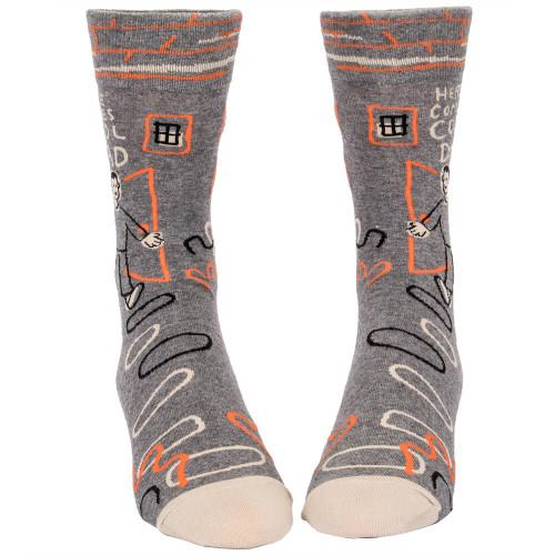 Here Comes Cool Dad Men's Crew Socks
