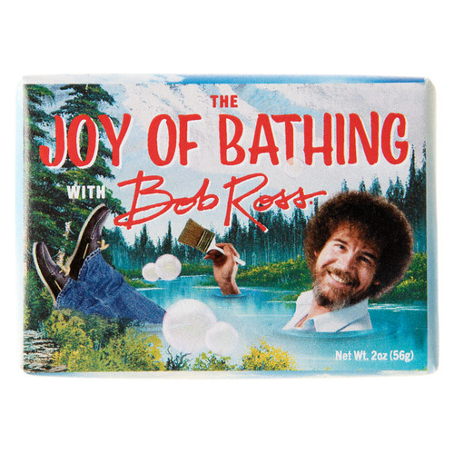 The Joy of Bathing with Bob Ross Soap