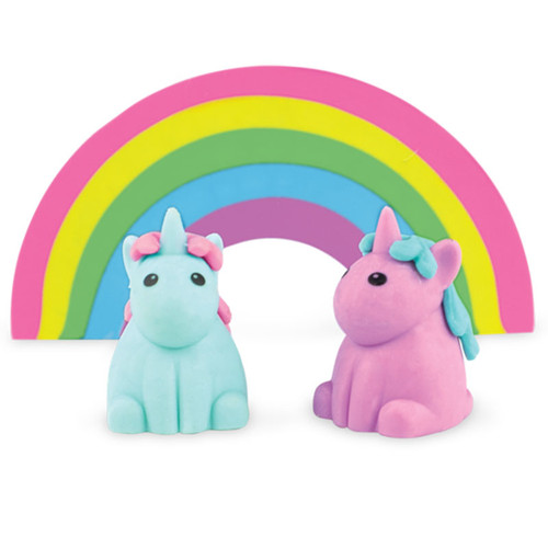 Unicorn + Rainbow Scented Eraser Set