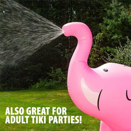 Gigantic Pink Elephant Yard Sprinkler