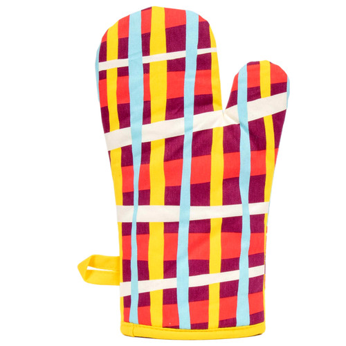 Cool plaid!  Say No To Salad Oven Mitt