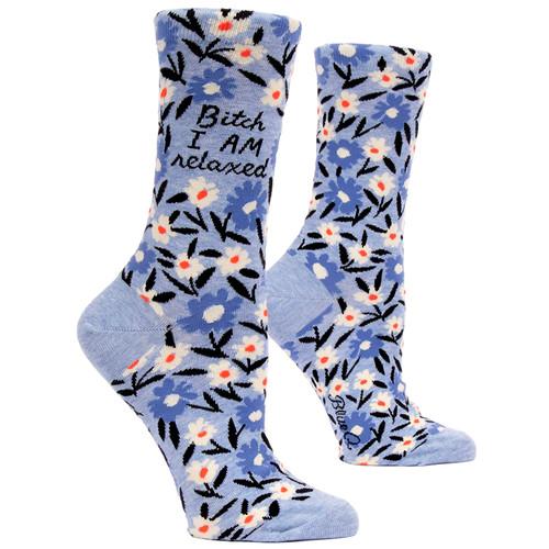 Bitch I AM Relaxed Women's Crew Socks