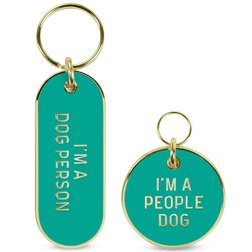 Howligans I'm a Dog Person Keychain Set