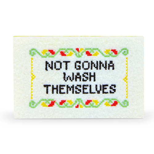 Not Gonna Wash Themselves Subversive Cross-Stitch