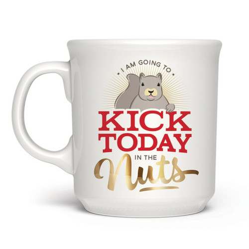Kick Today in the Nuts Mug