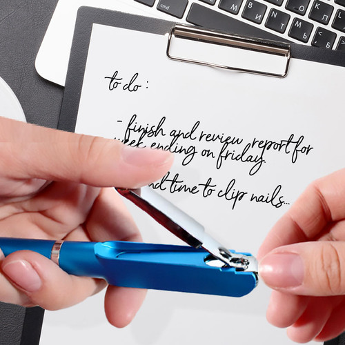 Pen with toe nail  clippers - Flip N' Clip Pen