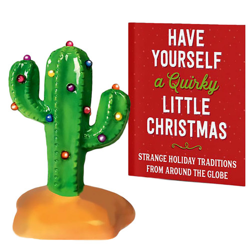 Miniature Light Up Cactus Christmas Tree