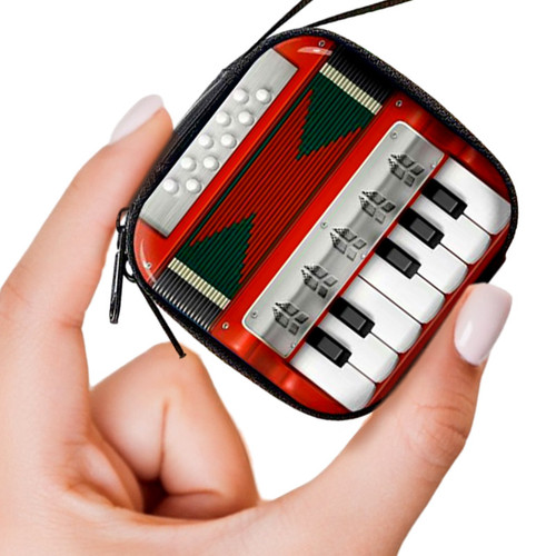 Retro Accordion Headphone + Change Purse