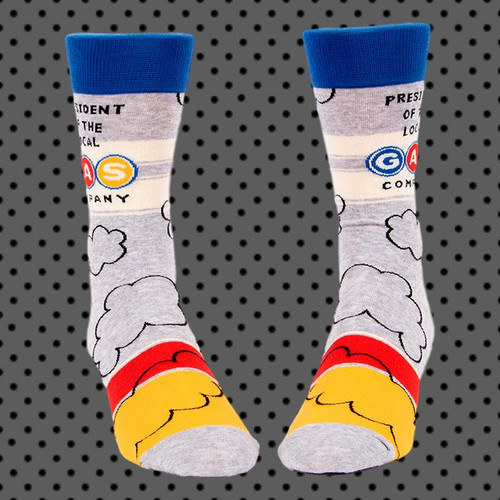 President Of Local Gas Company Men's Crew Socks - Purchase