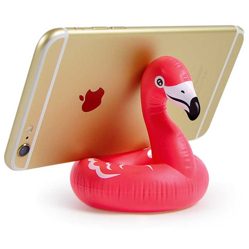 Float On Pink Flamingo Pool Float Phone Stand