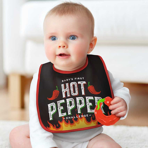 Fred's Dressed To Spill Hot Pepper Challenge Bib + Teether Set