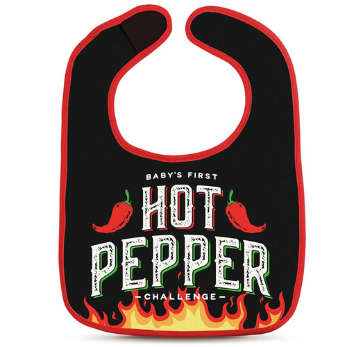 Dressed To Spill Hot Pepper Challenge Bib + Teether Set
