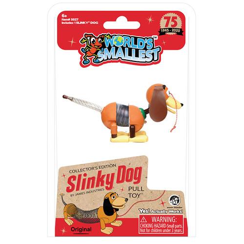 World's Smallest Slinky Dog Pull Toy Super Impulse